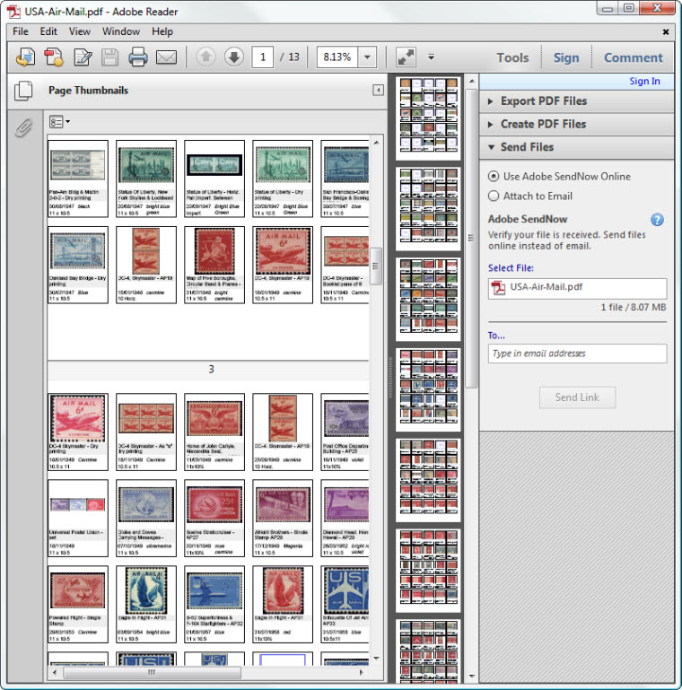 Create stamp album page type reports with StampManage