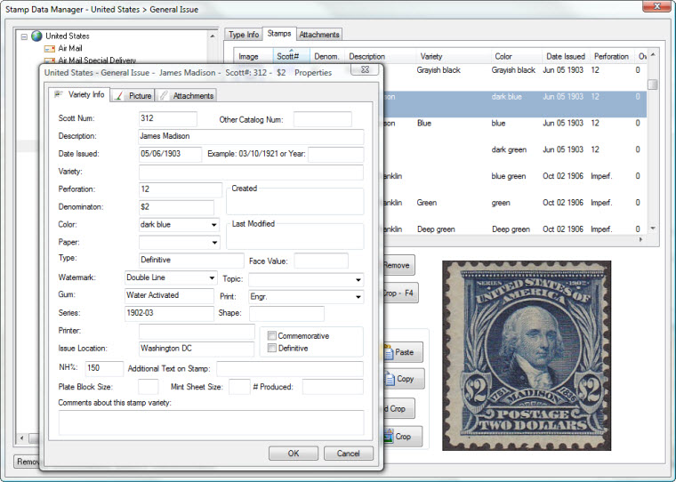 World Stamp Database Varieties Manager